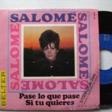 Discos de vinilo: SALOME, PASE LO QUE PASE FESTIVAL DÒR CHECOSLOVAQUIA, SINGLE BELTER 1968. NUEVO A ESTRENAR EN OFERTA. Lote 29237218