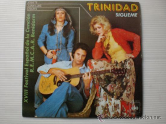 TRINIDAD, SIGUEME FESTIVAL DE BENIDORM SINBLE CBS 1976, SEMINUEVO (Música - Discos - Singles Vinilo - Otros Festivales de la Canción)