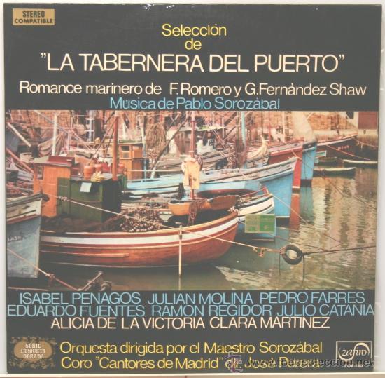 LA TABERNA DEL PUERTO LP ZAFIRO 1973 (Música - Discos - LP Vinilo - Clásica, Ópera, Zarzuela y Marchas)