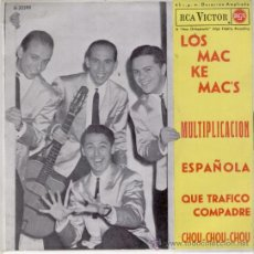 Discos de vinilo: LOS MAC KE MAC'S // MULTIPLICACION / ESPAÑOLA +2 // EP 1962 // EX - EX. Lote 29241843