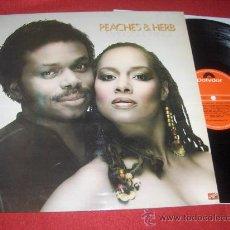 Discos de vinilo: PEACHES & HERB SAYIN SOMETHING LP 1981 POLYDOR EDICION ESPAÑOLA. Lote 29244684