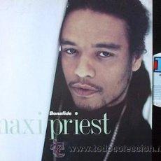 Discos de vinilo: MAXI PRIEST -REGGAE LP BONAFIDE – 1990 VIGIN REGGAE. Lote 29244740