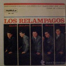 Discos de vinilo: LOS RELAMPAGOS, DOS CRUCES+3, EP NOVOLA 1965. Lote 29247389