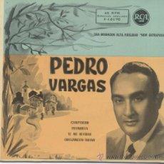 Discos de vinilo: PEDRO VARGAS,CAMPANERO. Lote 29262441