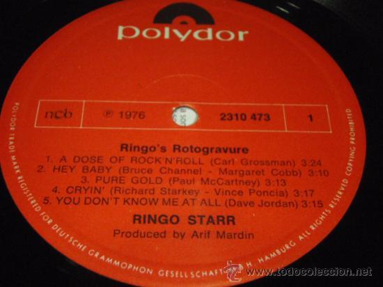 Discos de vinilo: RINGO STARR ( RINGO'S ROTOGRAVURE ) 1976 - GERMANY LP33 POLYDOR - Foto 4 - 29262615