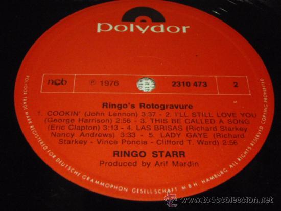 Discos de vinilo: RINGO STARR ( RINGO'S ROTOGRAVURE ) 1976 - GERMANY LP33 POLYDOR - Foto 5 - 29262615