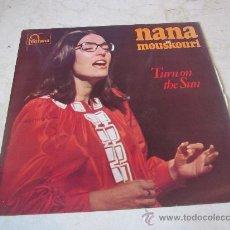 Discos de vinilo: NANA MOUSKOURI - TURN ON THE SUN LP - FONTANA 1970. Lote 29265202