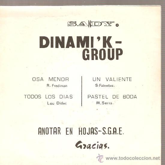 Discos de vinilo: EP DINAMIK GROUP : OSA MENOR + 3 - Foto 2 - 29268751