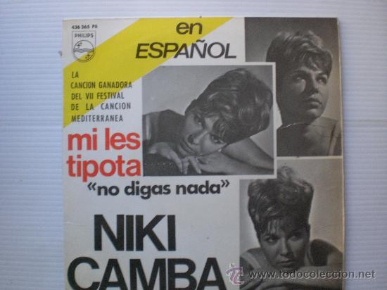 NIKI CAMBA EN ESPAÑOL FESTIVAL MEDITERRANEO- NO DIGAS NADA+3 EP PHILIPS 1965 NUEVO, EN OFERTA (Música - Discos de Vinilo - EPs - Otros Festivales de la Canción)