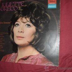 Discos de vinilo: JULIETTE GRECO LP MON HOMME 196? FONTANA FRANCE VER FOTO ADICIONAL. Lote 29280765