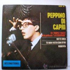 Discos de vinilo: PEPPINO DI CAPRI ST. TROPEZ TWIST+3 EP HISPAVOX 1964 NUEVO. Lote 29281544