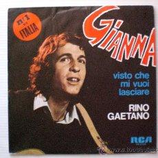 Discos de vinilo: RINO GAETANO GIANNA SINGLE RCA 1978 PROMO, NUEVO A ESTRENAR, EN OFERTA. Lote 29281801