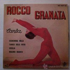 Discos de vinilo: ROCCO GRANATA, SIGNORINA BELLA+3 EP HISPAVOX 1963 NUEVO A ESTRENAR, EN OFERTA. Lote 29284603