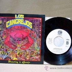 Discos de vinilo: DISCO, VINILO, SINGLE,LOS CANGREJOS, SWEATING Y GASOFA, EP, LA FABRICA MAGNETICA, 4 TEMAS, R 90009. Lote 29291209