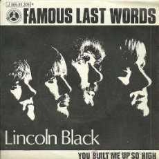Discos de vinilo: LINCOLN BLACK SINGLE SELLO PENNY FARTHING AÑO 1970. Lote 29299031