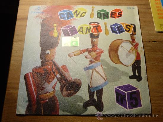 CANCIONES POPULARES INFANTILES Nº 5. ANTON PIRULERO. EP. COLUMBIA 1964. (Música - Discos de Vinilo - EPs - Música Infantil)