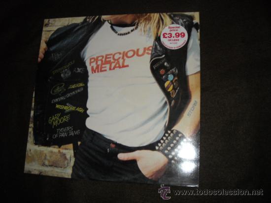 MOORE..WISHBONE ASH.SKYNYRD.STEPPENWOLF LP PRECIOUS METAL MCA 198O ENGLAND (Música - Discos - LP Vinilo - Heavy - Metal)