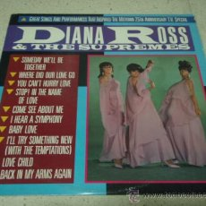 Discos de vinilo: DIANA ROSS & THE SUPREMES 'GREAT SONGS, THE MOTOWN 25TH ANNIVERSARY' USA-1983 LP33 MOTOWN. Lote 29312593