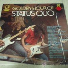 Discos de vinilo: STATUS QUO - GOLDEN HOUR OF STATUS QUO ENGLAND-1973 LP33 GOLDEN HOUR. Lote 29313104