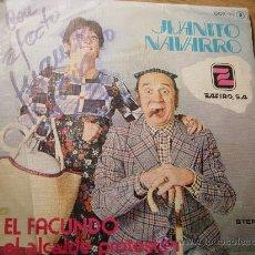 Discos de vinilo: JUANITO NAVARRRO. EL FACUNDO. EL ALCALDE PROTESTON. CON AUTOGRAFO. ZAFIRO 1979. VINILO IMPECABLE. Lote 29316269
