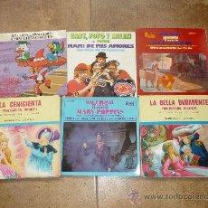 Discos de vinilo: LOTE DISCOS INFANTILES LA DAMA Y EL VAGABUNDO MARY POPINS LA CENICIENTA LOS PAYASOS DE LA TELE ETC. Lote 29318175