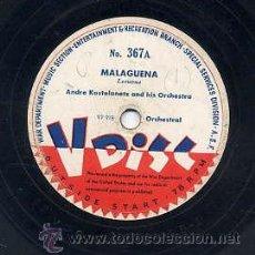 Discos de vinilo: WAR DEPARTMENT USA - 78 R.P.M. 12 PULGADAS Nº 367 / MALAGUEÑA (VER CARA B). Lote 29324157