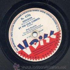 Discos de vinilo: WAR DEPARTMENT USA - 78 R.P.M. 12 PULGADAS Nº 416 / INDIANA (VER CARA B). Lote 29324320