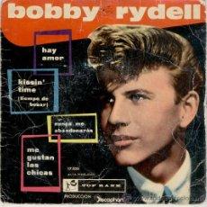 Discos de vinilo: BOBBY RYDELL - TEMAS EN PORTADA // VINILO AZUL // SPAIN EP 1961 . Lote 29335403
