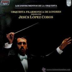 Discos de vinilo: LOS INSTRUMENTOS DE LA ORQUESTA - JESÚS LÓPEZ COBOS, ORQUESTA FILARMÓNICA DE LONDRES -DOBLE LP. Lote 29342335