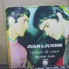 Discos de vinilo: JUAN Y JUNIOR - TIEMPO DE AMOR / EN SAN JUAN - NOVOLA 1968. Lote 29353598