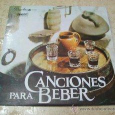 Discos de vinilo: LP CANCIONES PARA BEBER - EDICION ESPECIAL - ASTURIAS, CASTILLA, CANARIAS, CATALUÑA, RIANXEIRA, . Lote 29364877