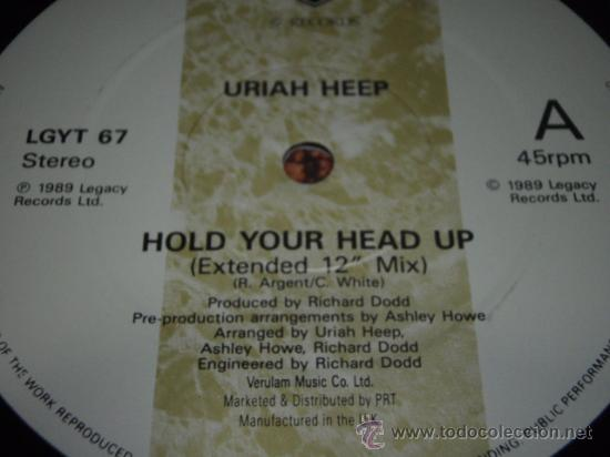 Discos de vinilo: URIAH HEEP ( HOLD YOUR HEAD UP extended 12 mix + 7 version - MIRACLE CHILD ) ENGLAND-1989 - Foto 3 - 29366081