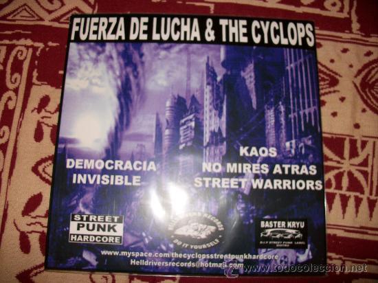 SPLIT EP FUERZA DE LUCHA - THE CYCLOPS - GRIND HARDCORE PUNK - NUEVO (Música - Discos de Vinilo - EPs - Heavy - Metal)