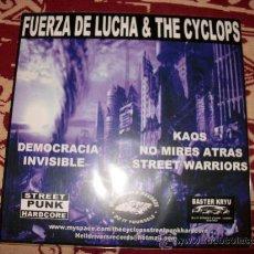 Discos de vinilo: SPLIT EP FUERZA DE LUCHA - THE CYCLOPS - GRIND HARDCORE PUNK - NUEVO. Lote 29366534