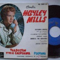 Discos de vinilo: BSO TU A BOSTON Y YO A CALIFORNIA, EP HISPAVOX 1962, NUEVO LIQUIDACION 50%. Lote 29373543