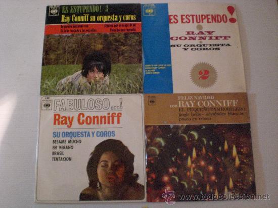 RAY CONNIFF, LOTE 4 EPS. AÑOS 60´, EXCELENTE ESTADO EN LIQUIDACION VER MAS INFORMACION (Música - Discos - Singles Vinilo - Orquestas)