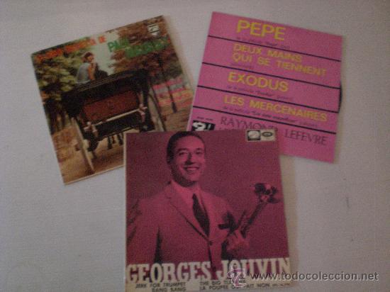 PAUL MAURIAT, GEORGES JOUVIN RAYMON LEFEVRE LOTE 3 EPS AÑOS 60 EN LIQUIDACION VER MAS INFORMACION (Música - Discos - Singles Vinilo - Orquestas)