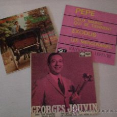 Discos de vinilo: PAUL MAURIAT, GEORGES JOUVIN RAYMON LEFEVRE LOTE 3 EPS AÑOS 60 EN LIQUIDACION VER MAS INFORMACION. Lote 29375882
