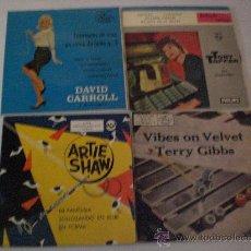 Discos de vinilo: DAVID CARROLL,TERRY GIBBS, ARTIE SHAW, TONY TOPPER, LOTE 4 EPS ESP AÑOS 60´ VER TITULOS, EXCELENTE. Lote 29376164