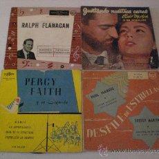 Discos de vinilo: CLAIR MORTON, PERCY FAITH, RALPH FLANAGAN, PHIL HARRIS, FREDDY MARTIN, LOTE 4 EPS ESPAÑA AÑOS 50, +. Lote 29376227