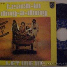 Discos de vinilo: TEACH-IN, DING A DONG, SINGLE PHILIPS EUROVISION 1975, RARO, NUEVO A ESTRENAR. Lote 29377275