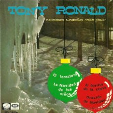 Discos de vinilo: TONY RONALD CANTA A LA NAVIDAD EP SELLO LA VOZ DE SU AMO AÑO 1966. Lote 29379355