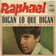 Discos de vinilo: RAPHAEL EP SELLO LA VOZ DE SU AMO EDITADO EN FRANCIA. Lote 29379653