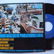 Discos de vinilo: MUSICA DE EUSKADI. COROS VASCOS PABLO SOROZABAL. EP HISPAVOX 1966, COMO NUEVO OFERTA MUY RARO. Lote 29388464