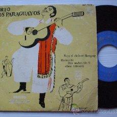 Discos de vinilo: TRIO LOS PARAGUAYOS, BAJO EL CIELO DE PARAGUAY EP PHILIPS 1961. Lote 117367612