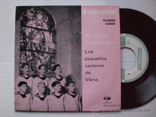 VILLANCICOS ALEMANES, PEQUEÑOS CANTORES DE VIENE, EP VERGARA 1961, SEMINUEVO (Música - Discos de Vinilo - EPs - Música Infantil)