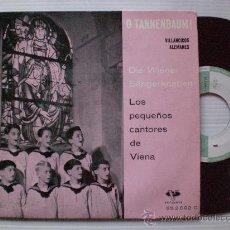 Discos de vinilo: VILLANCICOS ALEMANES, PEQUEÑOS CANTORES DE VIENE, EP VERGARA 1961, SEMINUEVO. Lote 29389049
