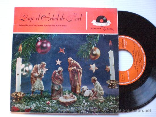 VILLANCICOS ALEMANES, BAJO EL ARBOL DE NOEL, EP POLYDOR 1959 SEMINUEVO (Música - Discos de Vinilo - EPs - Música Infantil)