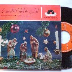 Discos de vinilo: VILLANCICOS ALEMANES, BAJO EL ARBOL DE NOEL, EP POLYDOR 1959 SEMINUEVO. Lote 29389105