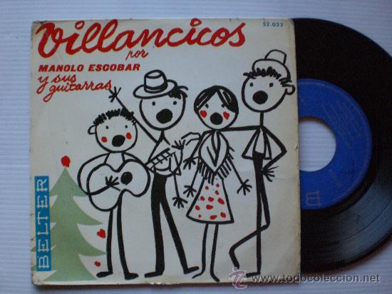 VILLANCICOS MANOLO ESCOBAR, EP BELTER 1959 (Música - Discos de Vinilo - EPs - Música Infantil)